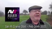 Ian R Crane Obit Feb 26th 2021
